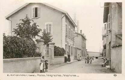 """CPA FRANCE 38 """"Pont de Chéruy, postes Télégraphes"""""""