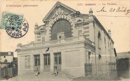 "CPA FRANCE 63 ""Ambert, le Théâtre"""