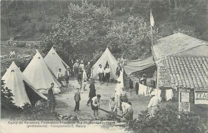 """/ CPA FRANCE 17 """"Ile d'Oléron, Domino Les Bains, Camp de vacances, fédération française des étudiants Chrétiens"""""""