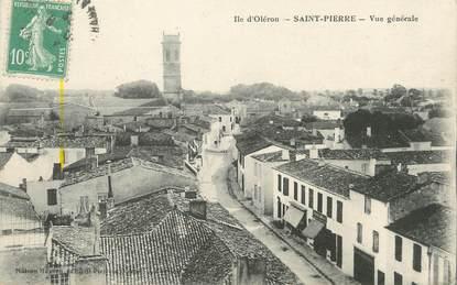"""/ CPA FRANCE 17 """"Ile d'Oléron, Saint Pierre, vue générale"""""""