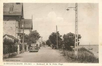 """/ CPA FRANCE 17 """"Ile d'Oléron, Saint Trojan Les Bains, boulevard de la petite Plage"""""""