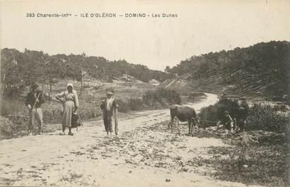 """/ CPA FRANCE 17 """"Ile d'Oléron, Domino, les Dunes"""""""