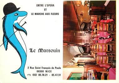"""CPSM FRANCE 06 """"Nice, Restaurant de poisson, Le Marsouin"""""""