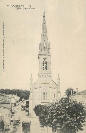 "/ CPA FRANCE 17 ""Mirambeau, église Notre Dame"""