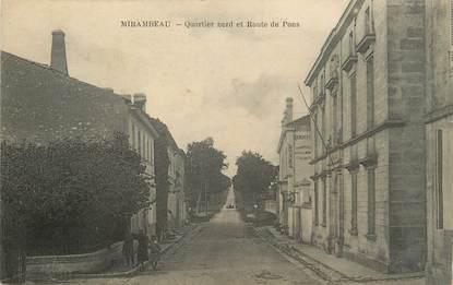 """/ CPA FRANCE 17 """"Mirambeau, quartier nord et route de Pons"""""""