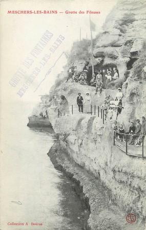 """/ CPA FRANCE 17 """"Meschers Les Bains, grotte des Fileuses"""""""