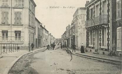 "/ CPA FRANCE 17 ""Marans, rue d'Aiigre"""