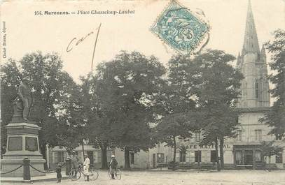 """/ CPA FRANCE 17 """"Marennes, place Chasseloup Laubat"""""""