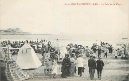 "/ CPA FRANCE 17 ""Royan Pontaillac, un coin de la plage"""