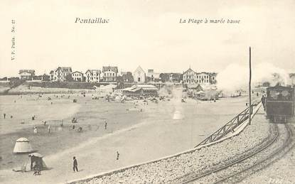 """/ CPA FRANCE 17 """"Pontaillac, la plage à marée basse"""""""