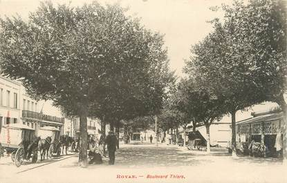 "/ CPA FRANCE 17 ""Royan, bld Thiers"""