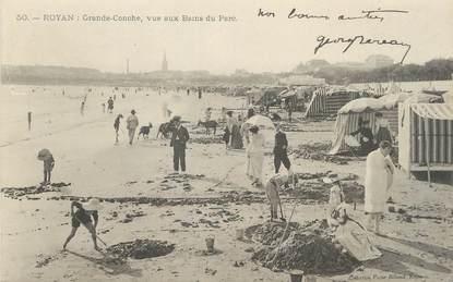 """/ CPA FRANCE 17 """"Royan, grande Conche, vue aux Bains du parc"""""""