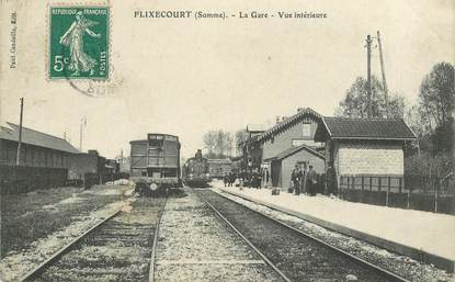 "CPA FRANCE 80 ""Flixecourt, la gare"" / TRAIN"