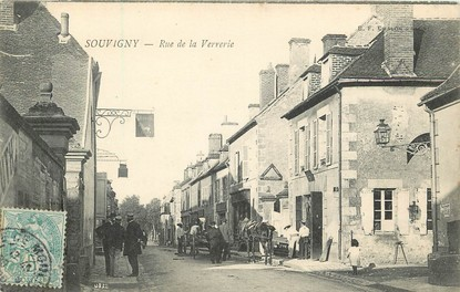 "CPA FRANCE 03 ""Souvigny, rue de la Verrerie"""