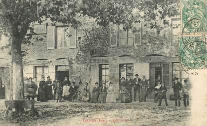 "CPA  FRANCE 38 ""Dionay, Hotel du Midi, Epicerie"""