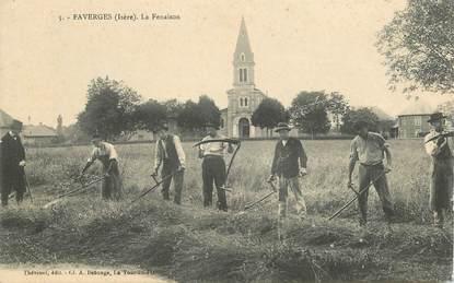 """CPA  FRANCE 38 """"Faverges, la Fenaison"""""""