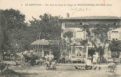 """CPA  FRANCE  38 """"Le Gontard, un coin de ferme du village de Monsteroux Milieu"""""""