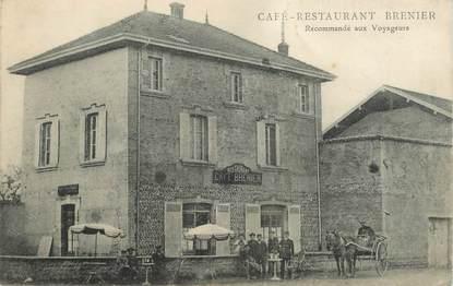 "CPA  FRANCE  38 ""Café restaurant Brenier"""
