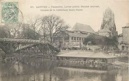 """/ CPA FRANCE 17 """"Saintes, passerelle, lavoir public"""""""