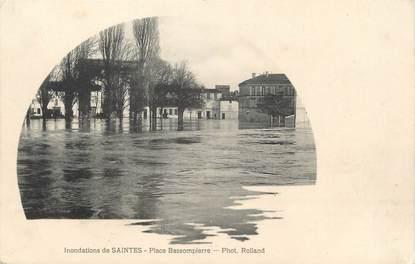 "/ CPA FRANCE 17 ""Saintes, place Bassompierre"" /  INONDATION"