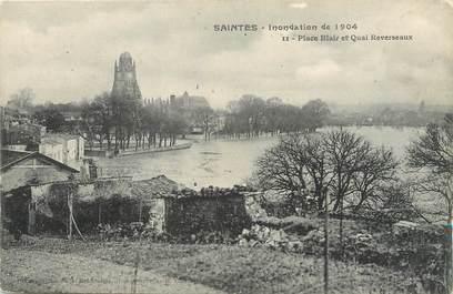 """/ CPA FRANCE 17 """"Saintes, place Blair et quai Reverseaux"""" / INONDATION"""