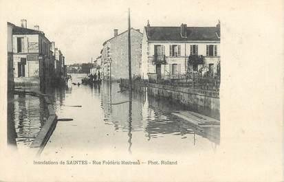 """/ CPA FRANCE 17 """"Saintes, rue Frédéric Mestreau"""" /  INONDATION"""