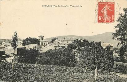 """CPA FRANCE 63 """"Brousse, vue générale"""""""