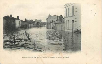 """/ CPA FRANCE 17 """"Saintes, route de Bussac"""" /  INONDATION"""