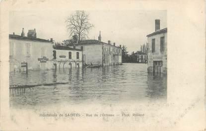 """/ CPA FRANCE 17 """"Saintes, rue de l'Ormeau"""" / INONDATION"""