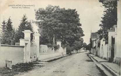 """/ CPA FRANCE 17 """"Sainte Même, av des châteaux"""""""