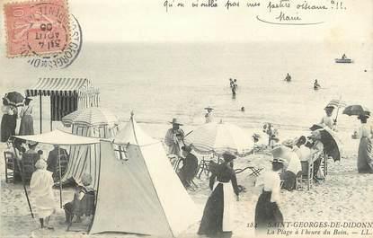 """/ CPA FRANCE 17 """"Saint Georges De Didonne, la plage à l'heure du bain"""""""