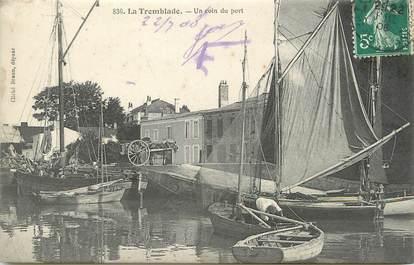 "/ CPA FRANCE 17 ""La Tremblade, un coin du port"""