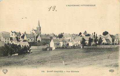 """CPA FRANCE 63 """"Saint Sauves, vue générale"""""""