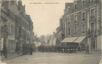"/ CPA FRANCE 18 "" Bourges, av de la gare """