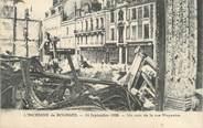 """18 Cher / CPA FRANCE 18 """"L'incendie de Bourges, un coin de la rue Moyenne"""""""