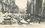 """18 Cher / CPA FRANCE 18 """"L'incendie de Bourges, l'éboulement dans la rue Moyenne"""""""