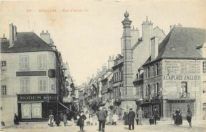 """CPA FRANCE 03 """"Moulins, Rue d'Allier"""""""