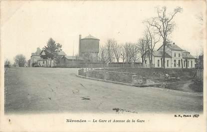 """/ CPA FRANCE 18 """"Nérondes, la gare et l'avenue de la gare"""""""