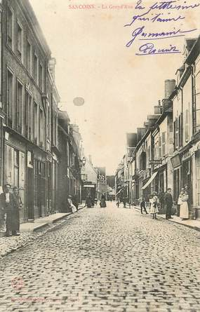 "/ CPA FRANCE 18 ""Sancoins, la grand' rue """