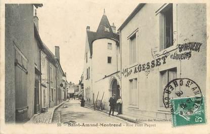 """/ CPSM FRANCE 18 """"Saint Amand Montrond, rue Pont Paquet"""""""