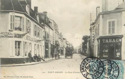 """/ CPSM FRANCE 18 """"Saint Amand, la rue d'Austerlitz"""""""