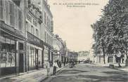 "18 Cher / CPA FRANCE 18 ""Saint Amand Montrond, rue Nationale"""
