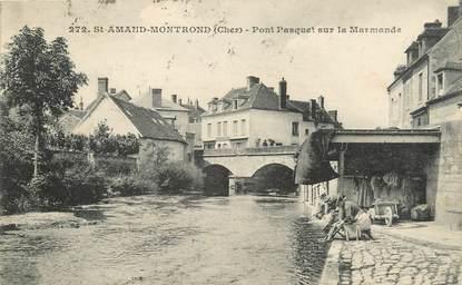 """/ CPA FRANCE 18 """"Saint Amand Montrond, pont Pasquet sur la Marmande"""""""
