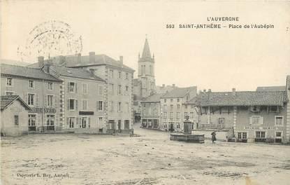 """CPA FRANCE 63 """"Saint Anthême, Place de l'Aubépin"""""""