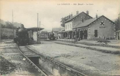 """/ CPA FRANCE 19 """"Bort, la gare """""""