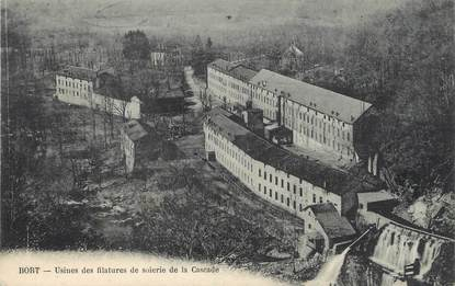 """/ CPA FRANCE 19 """"Bort, usines des filatures de soierie de la Cascade"""""""