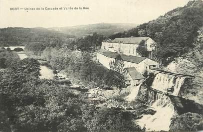 """/ CPA FRANCE 19 """"Bort, usines de la cascade et vallée de la rue"""""""