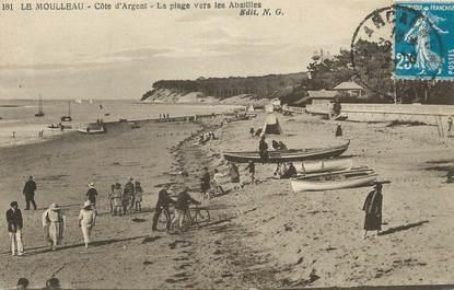 """/ CPA FRANCE 33 """"Le Moulleau, la plage vers les Abatilles"""""""