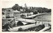 """53 Mayenne / CPSM FRANCE 53 """"Château Gontier, le pont de Mayenne et l'église Saint Jean"""""""