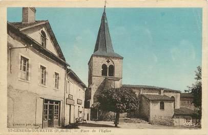 """CPA FRANCE 63 """"Saint Genès la Tourette, Place de l'Eglise"""""""